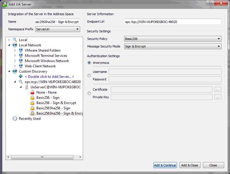 OPC UA Gateway - Installation and setup