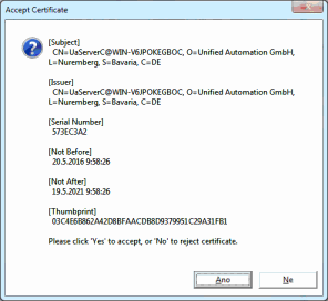 OPC UA Matrikon Proxy - Installation and setting